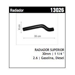 MANGUERA DE RADIADOR SUPERIOR ISUZU TROOPER 2.6 CHEVROLET