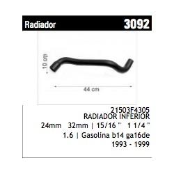TUBO DE CAUCHO - NISSAN SENTRA (RAD. INF.)